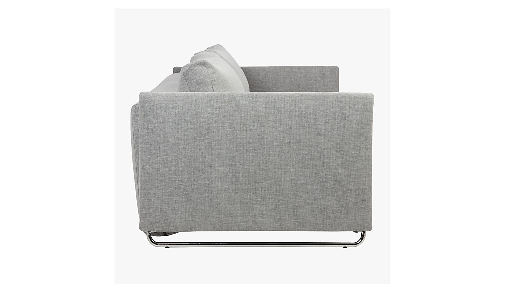 tandom microgrid grey sleeper sofa