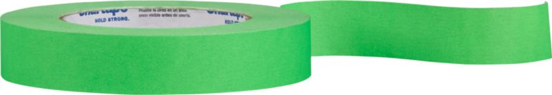 """<span class=""""copyHeader"""">wrap star.</span> Think outside the box. Neon green tape pops gifts with DIY creativity. Printable surface also makes clever labels. Fun to spool in our cement tape dispenser. Sticks bold on our black gift wrap.<br /><br /><NEWTAG/><ul><li>Printable colored tape</li><li>60.1 yards</li></ul>"""