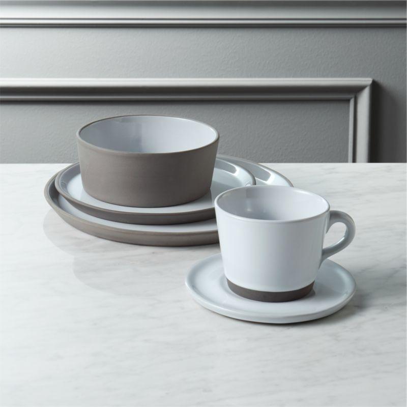 Good Taper Grey Stoneware Dinnerware Set | CB2