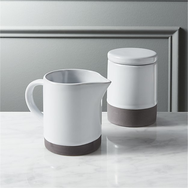 taper cream and sugar set