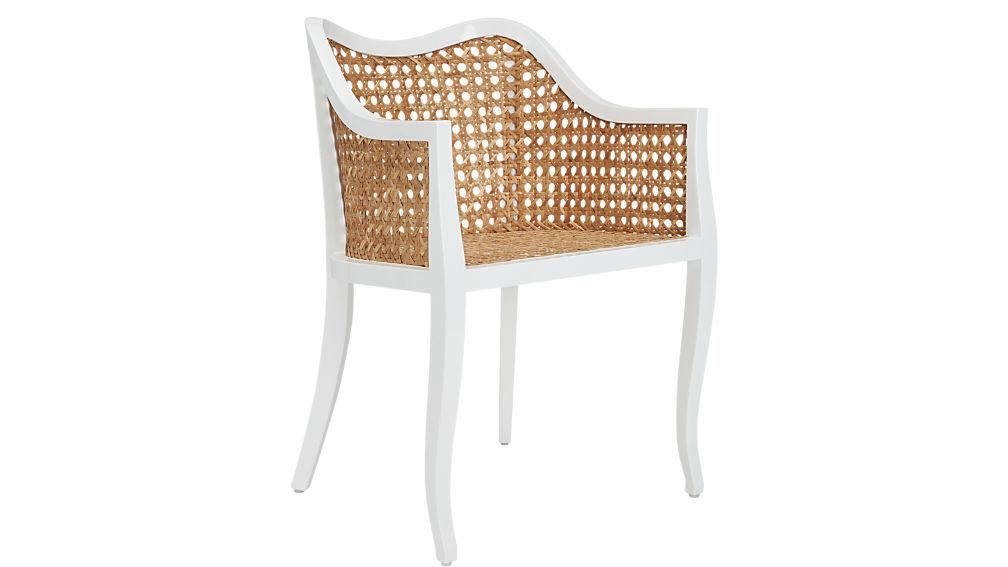tayabas cane side chair. taybas cane rattan chair   CB2