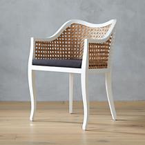 tayabas cane side chair and black cushion