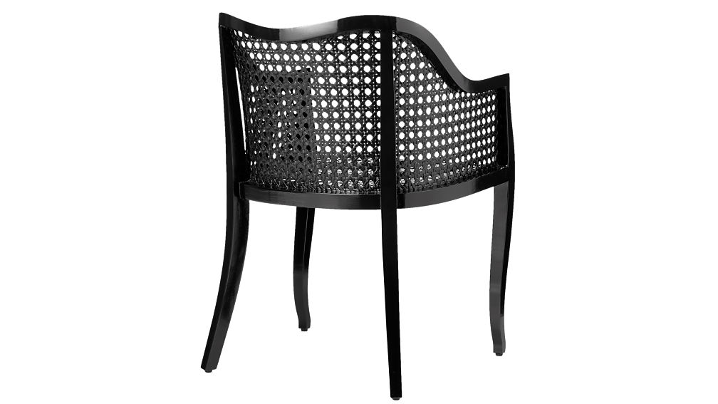 tayabas black cane side chair