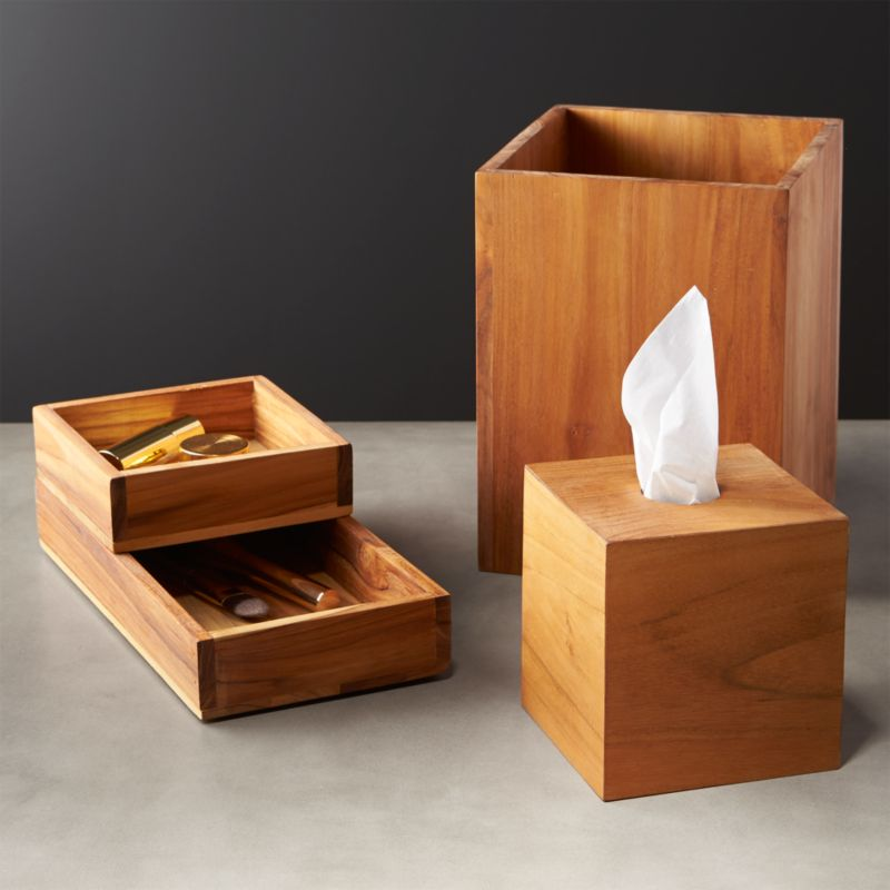 Teak Bath Accessories Cb2