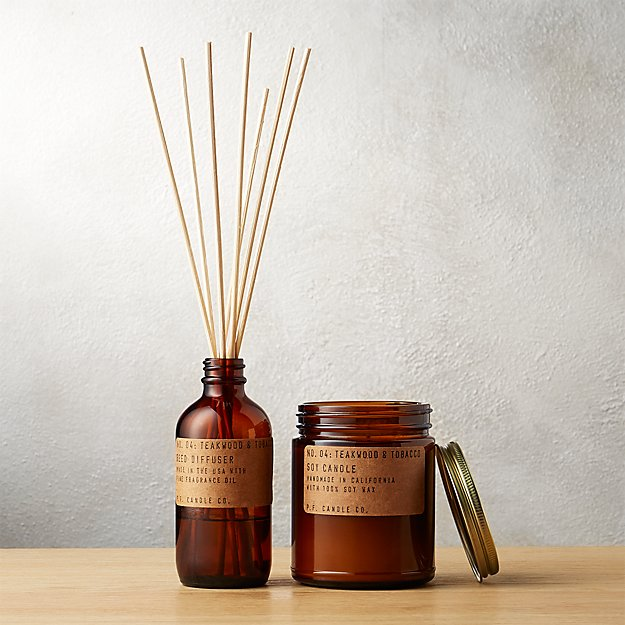 Teakwood And Tobacco Reed Diffuser Cb2