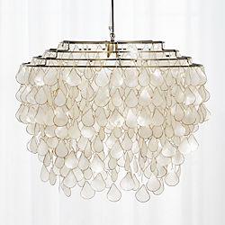 teardrops capiz chandelier