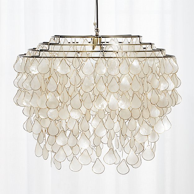 Teardrops Capiz Chandelier + Reviews
