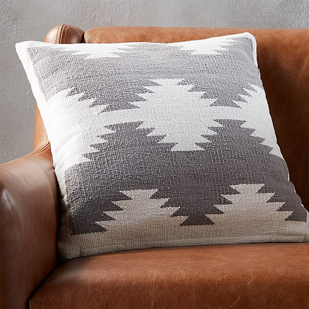 "18"" tecca pillow with feather-down insert"