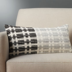 "23""x11"" telegraph pillow with feather-down insert"