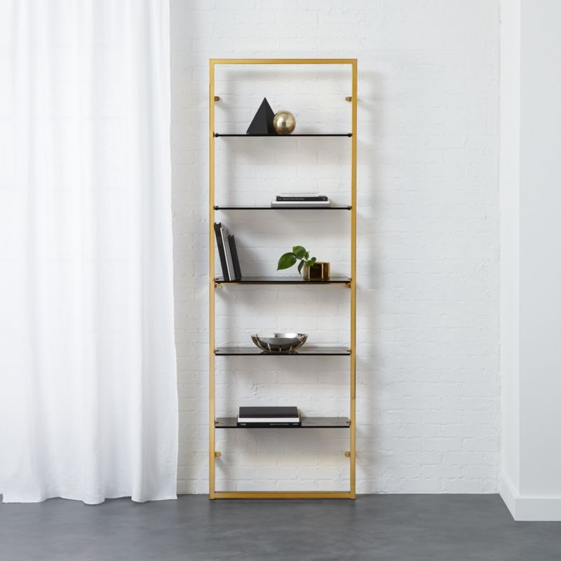 Modern Bookshelves and Bookcases Wall Ladder Cabinet CB2