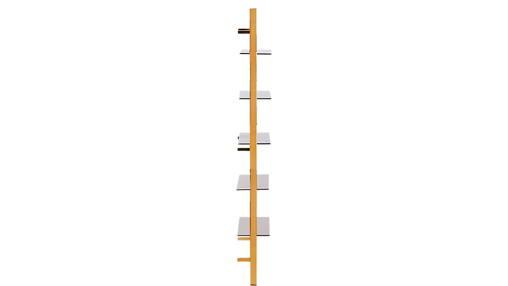 """tesso bronze 84"""" wall mounted bookcase"""