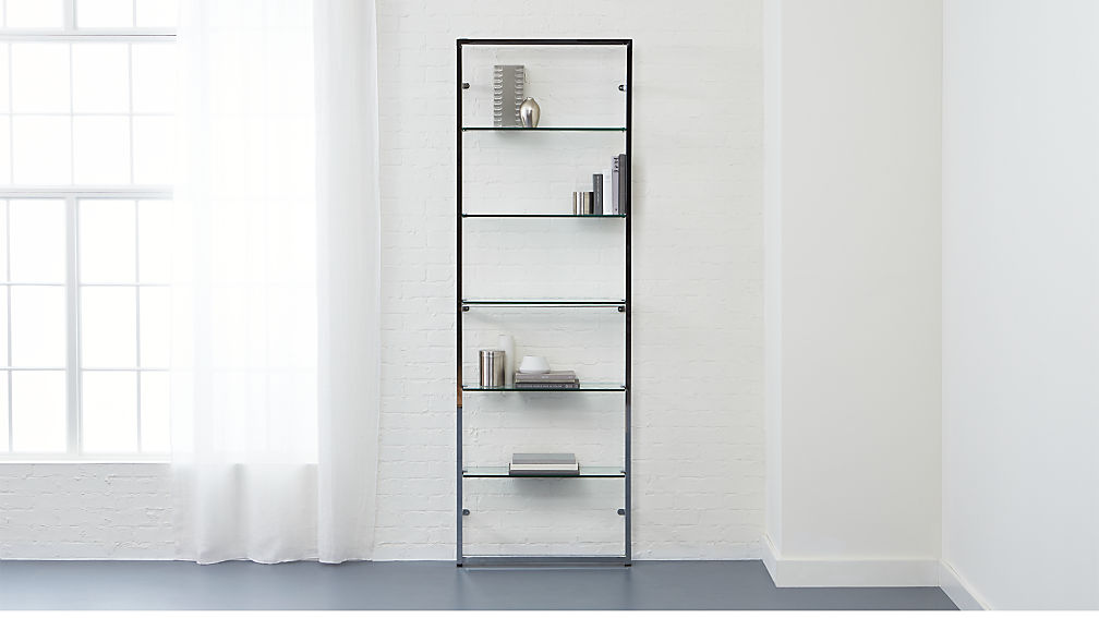 tesso chrome 84 wall mounted bookcase - Wall Hanging Book Shelf