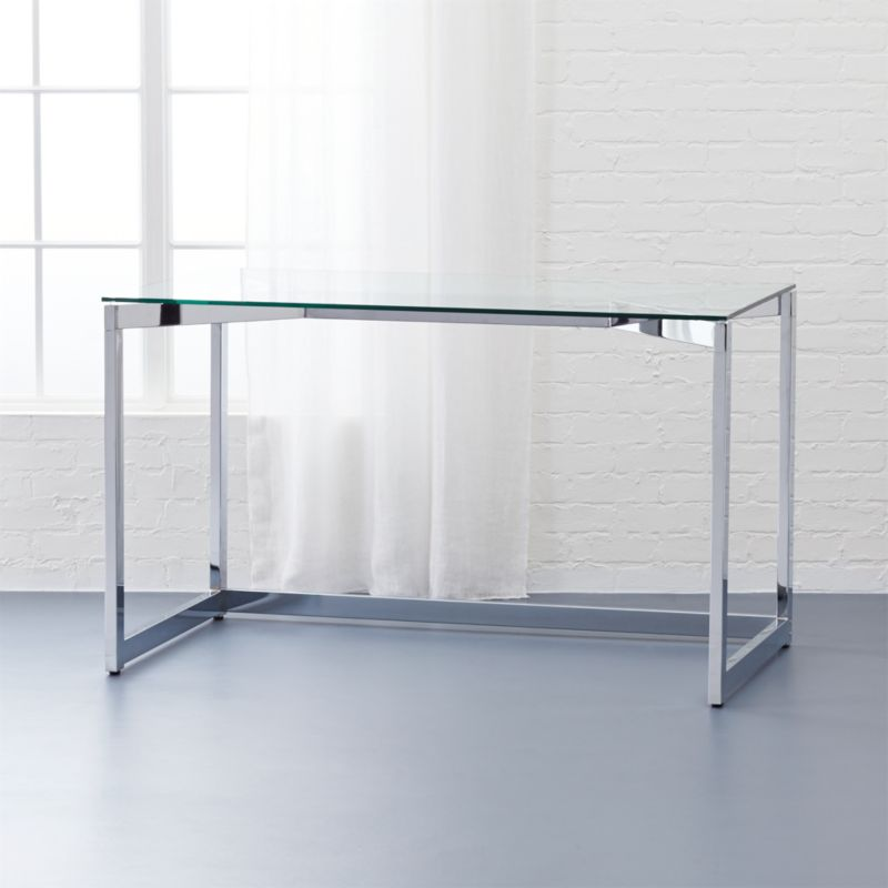 Tesso Chrome Desk CB2