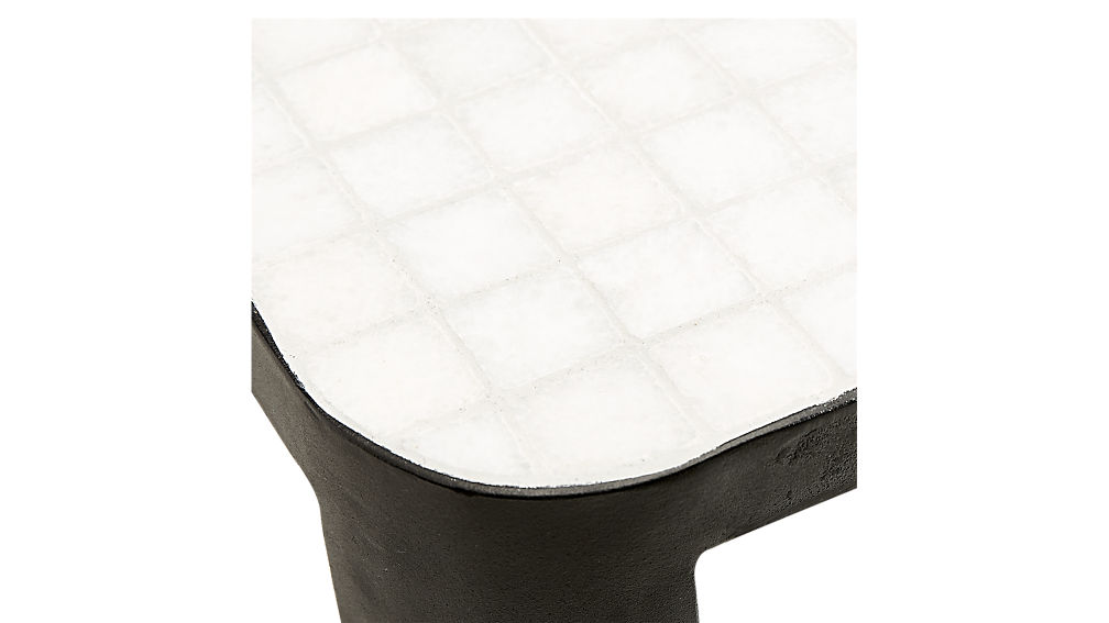 thapsus white marble tile coffee table