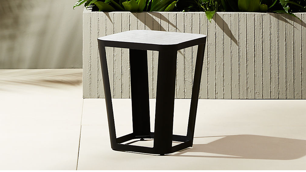 Thapsus White Marble Tile Side Table ...