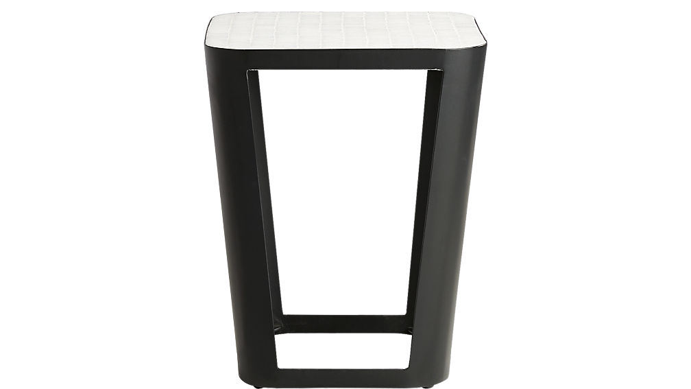 thapsus white marble tile side table