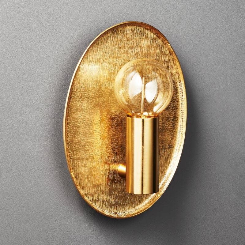 Cb2 Repeat Wall Sconces : Thatcher Textured Brass Wall Sconce CB2