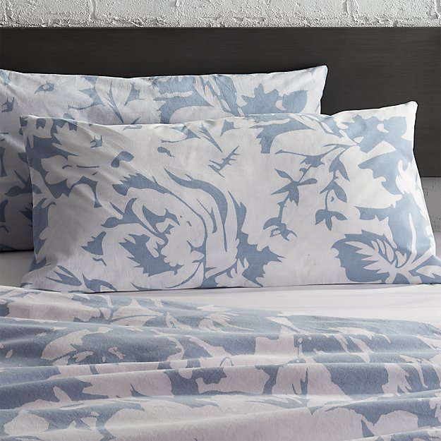 set of 2 The Hill-Side giant floral print king shams