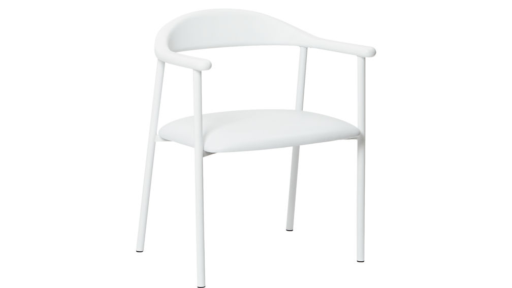 thea white faux leather chair