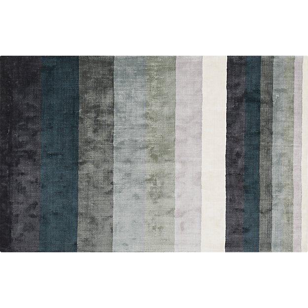 Tidal Hand Loomed Blue Grey Rug 5'x8'
