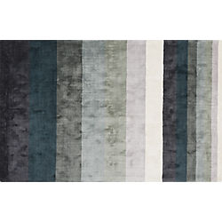 Tidal Hand Loomed Blue Grey Rug 5'x8'