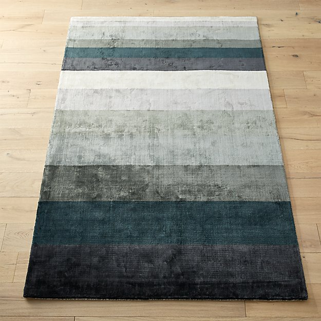 Tidal Hand Loomed Blue Grey Rug
