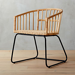 tolala natural rattan arm chair