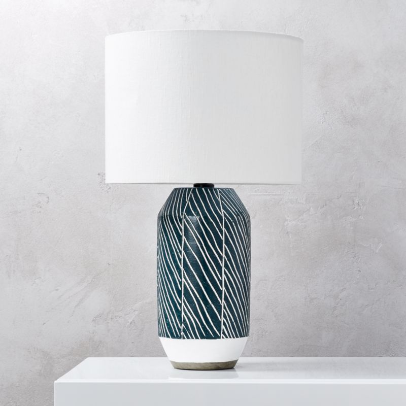 Tome Blue Green Table Lamp
