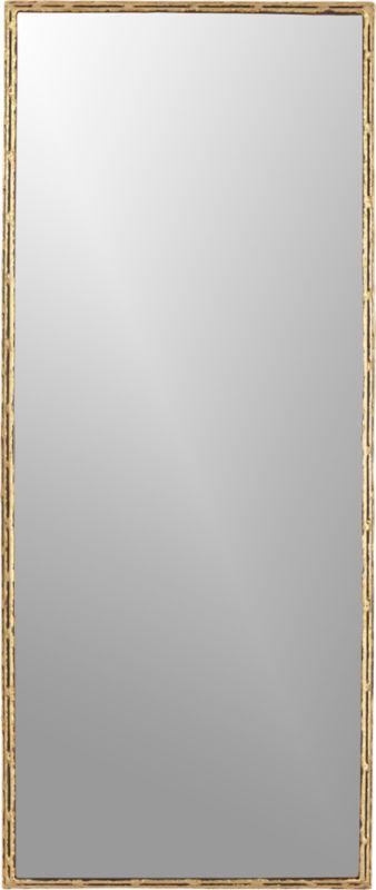 """tork brass dripping 20""""x48"""" wall mirror"""