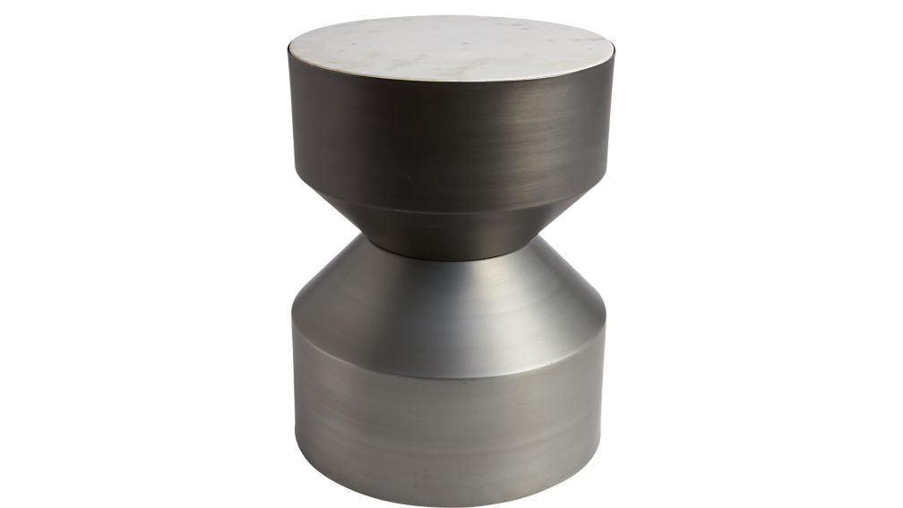 Make A Side Table Taller: Silo Metal Drum Side Table