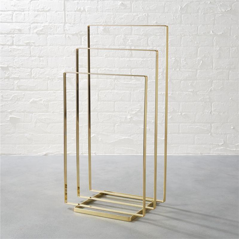 Brass Towel Rack CB2