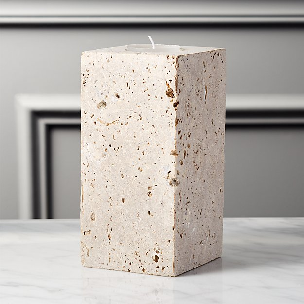 Travertine Large Tea Light Candle Holder