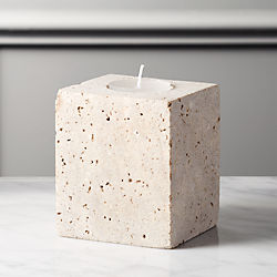 Travertine Small Tea Light Candle Holder
