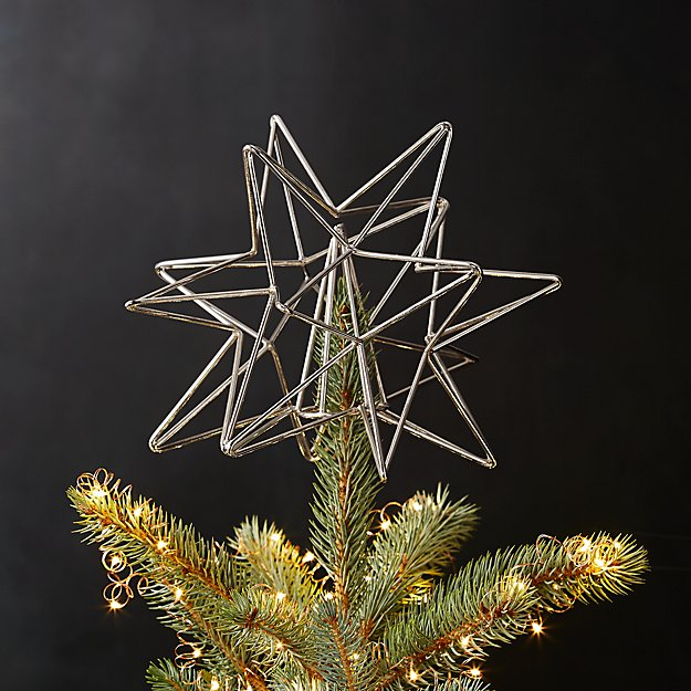 silver star tree topper
