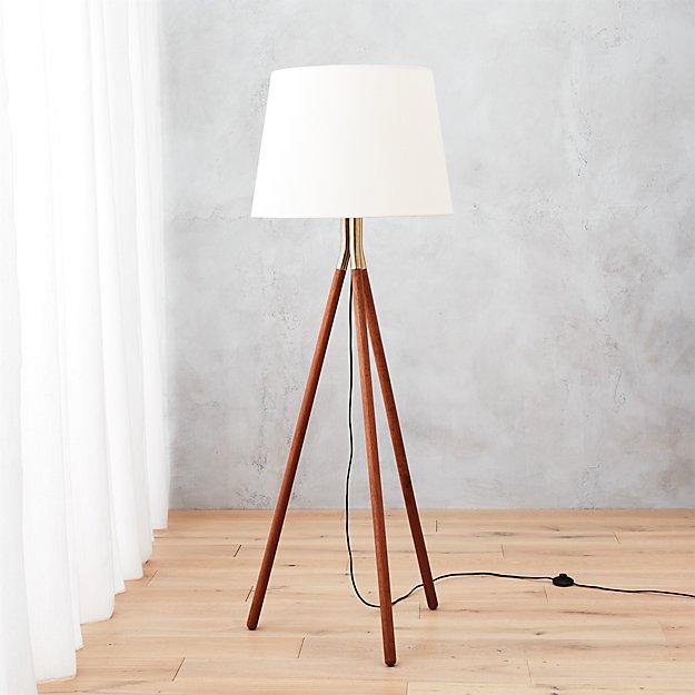 tres floor lamp cb2. Black Bedroom Furniture Sets. Home Design Ideas