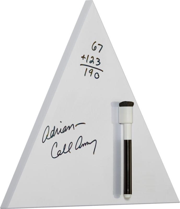 tri white dry erase board