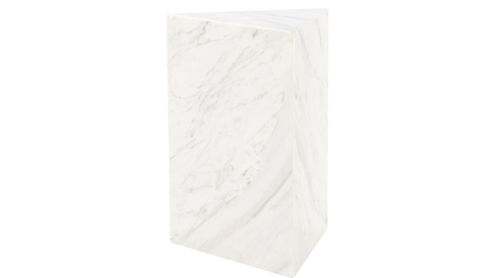 Tri White Marble Side Table