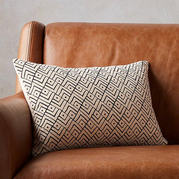 "18""x12"" triangle lattice pillow with down-alternative insert"