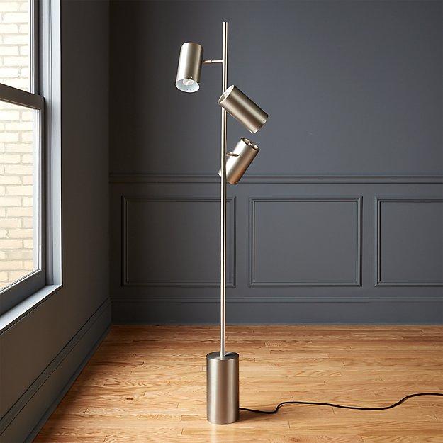 Trio Floor Lamp Brushed Nickel