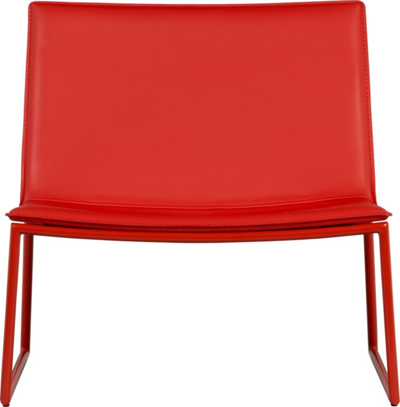triumph red lounge chair