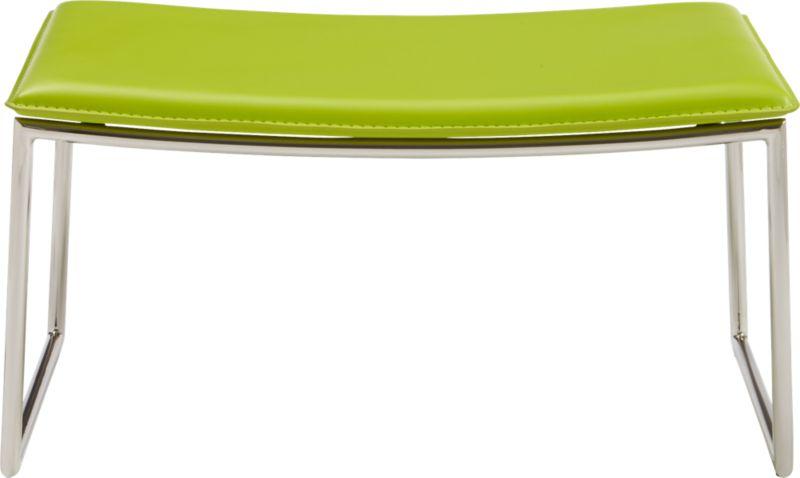 triumph green ottoman