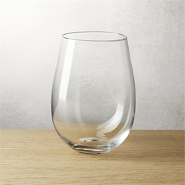 True Stemless Wine Glass Cb2