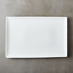 Tuck White Rectangular Platter