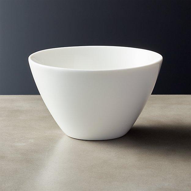 Tuck White Round Bowl