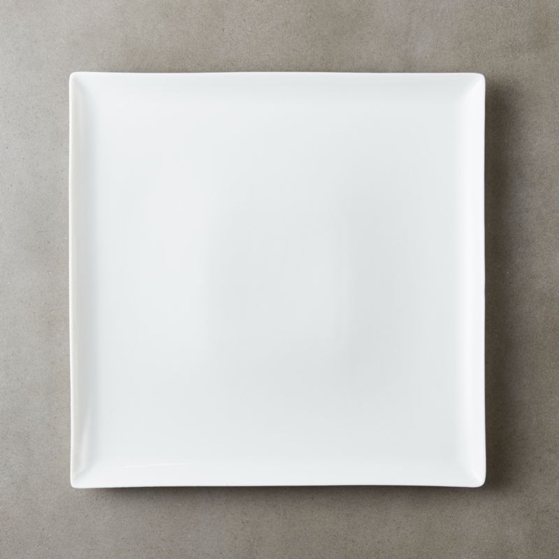 tuck white square dinner plate - Square Dinner Plates
