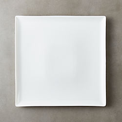 Tuck White Square Dinner Plate