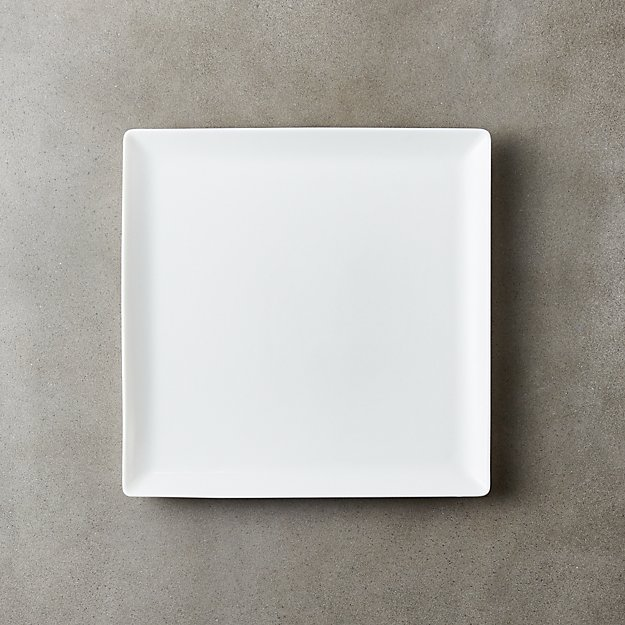 Tuck White Square Salad Plate