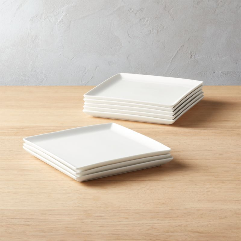 Tuck White Square Salad Plates Set Of 8