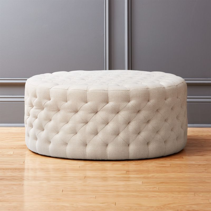 Ottoman Coffee Table Cb2: Tufted Natural Ottoman Spring: Natural