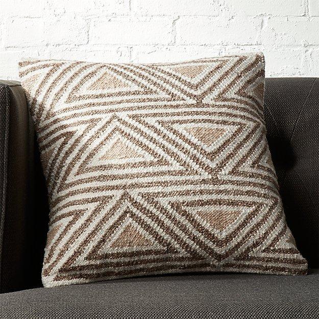 """18"""" Tula Triangle Pattern Pillow"""